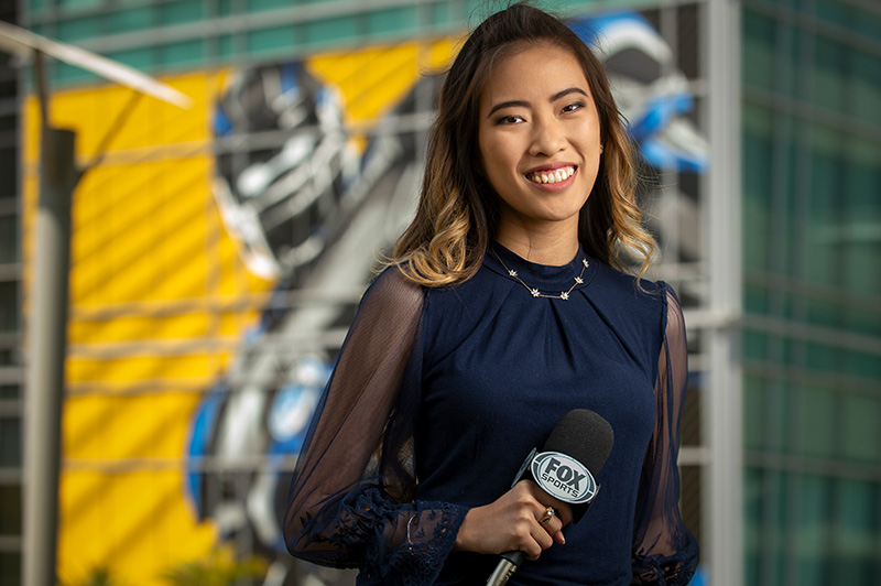 Beverly Pham in her job as a new graduate
