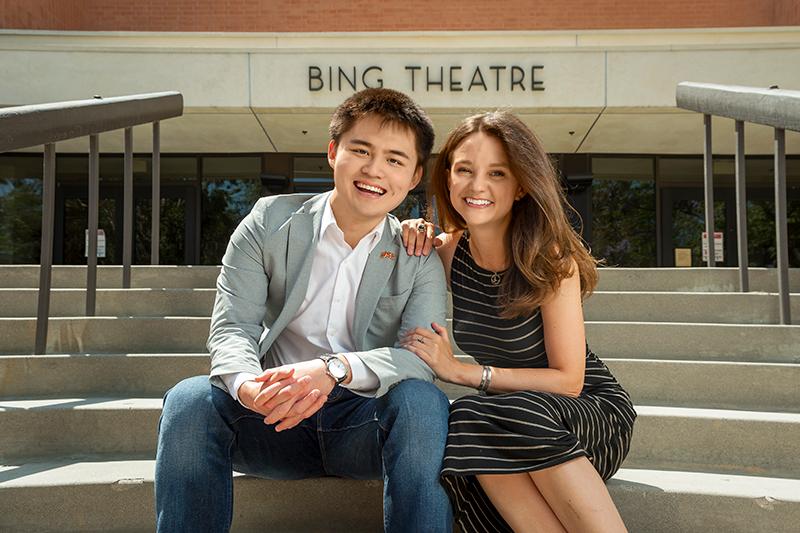 USC alumni mentor Adrienne Visnic and student Ziming Jim Liu