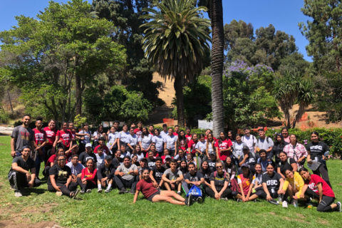 USC TRIO students graduation