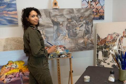 Jessica Bellamy USC art student