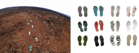 Mars art eco-footprints Richelle Gribble