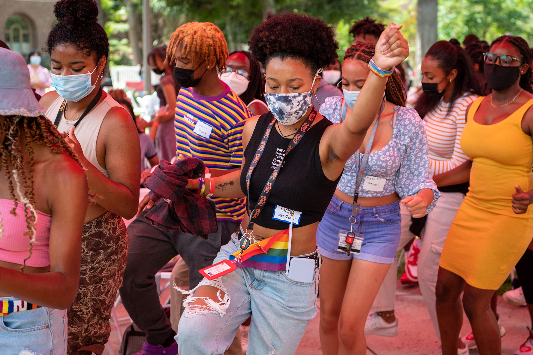 Students on dance floor: USC'sStudent Equity and Inclusion Programs