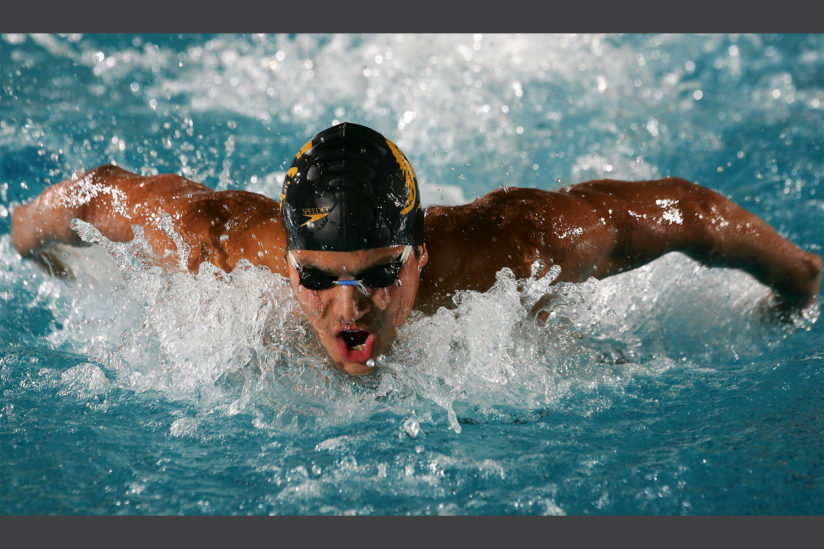 Ous Mellouli swimming