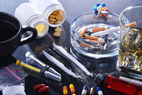 A variety of legal and illegal drugs