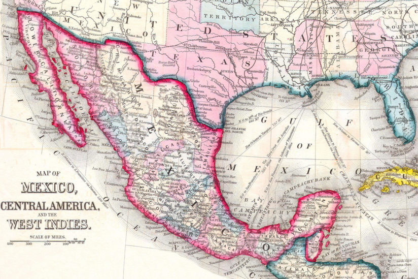 mexico map 1860s
