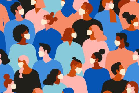 Illustration: People in masks