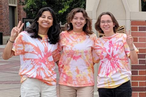 Meghana Sagare, Danielle Redmond and Olivia Vigano