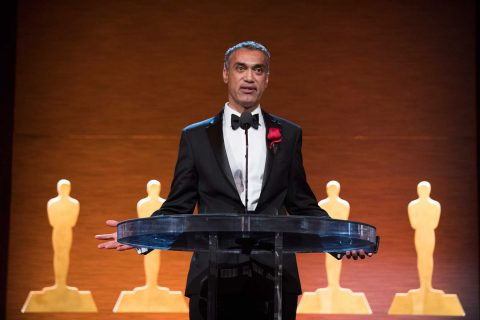 Parag Havaldar accepts his award at the Academy of Motion Picture Arts and Sciences' Scientific and Technical Achievement Awards. (Photo/Richard Harbaugh/AMPAS)